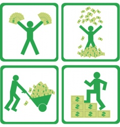 people with money vector image vector image