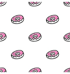 Seamless pattern with doodle doughnuts vector image vector image