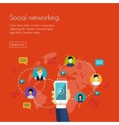 Social media network marketing vector image vector image