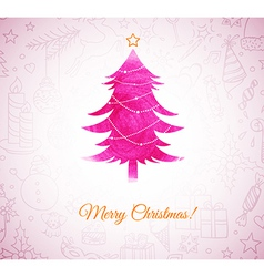 Xmas tree vector image