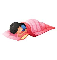 A young woman sleeping vector image vector image
