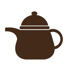 brown kettle front view graphic vector image vector image