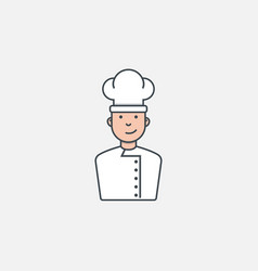 chef with heat vector image vector image