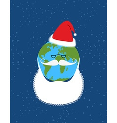 Earth of Santa Claus World-new year Earth with vector image vector image