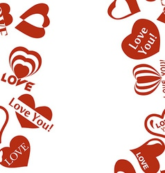 Heart pattern to Valentines Day Seamless frame vector image