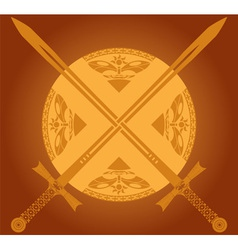 sunny swords vector image