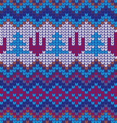 Seamless knitted background - vector image
