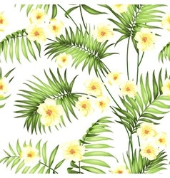 Seamless tropical flower vector image vector image