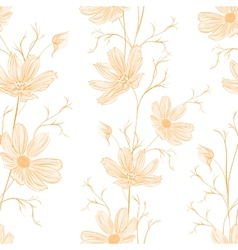 Spring style seamless background vector image