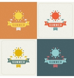 Summer Holidays Retro Typography Labels or Badges vector image