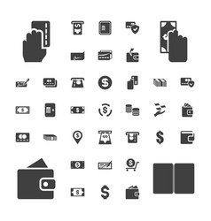 37 payment icons vector