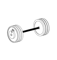 3d model of barbell on a white vector image