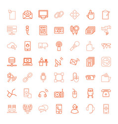 49 communication icons vector image