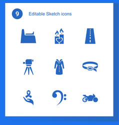 9 sketch icons vector