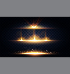 Abstract light effect and lens flare collection vector
