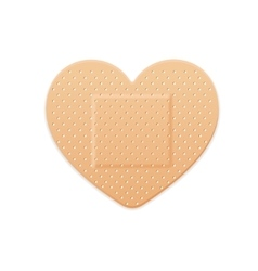 Aid Band Plaster Strip Medical Patch Heart vector image