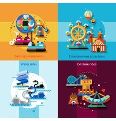 Amusement design concept set vector