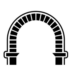 Arch column icon simple style vector