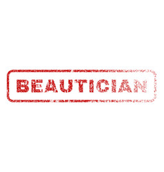 beautician rubber stamp vector image