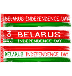 belarus independence day holiday celebrate card vector image