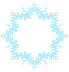 Big frosty snowflake vector image