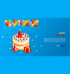 birthday cake poster vector image
