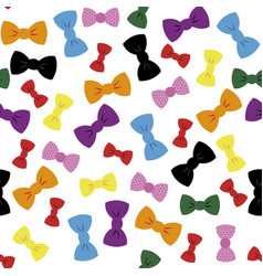bow ties art seamless bright wallpaper repeat vector image