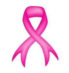 breast cancer awareness pink ribbon isolated icon vector image