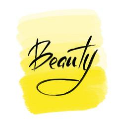 Brush lettering beauty vector