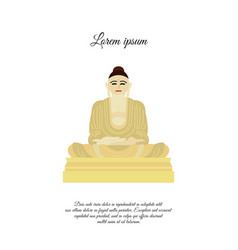 Buddha statue icon sign for mobile concept vector