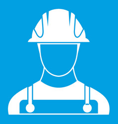 Builder icon white vector