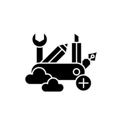 Business skills black icon sign on vector