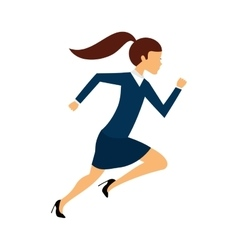Businessperson running avatar icon vector