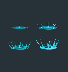cartoon dripping water effect set for ad vector image