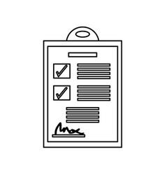 Checklist document isolated vector