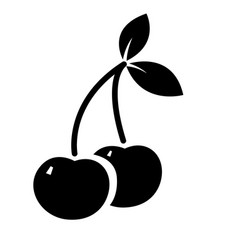 cherry icon isolated on white vector image