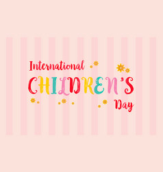 Childrens day colorful background card vector