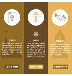 Christianityist banners set vector