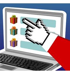 Christmas e-buying vector