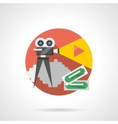 Cinema projector color detailed icon vector image