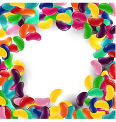 Colorful candy background with jelly beans vector