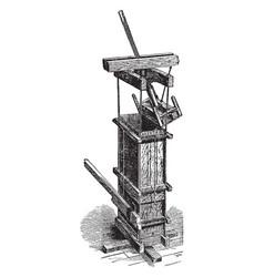 Cotton press vintage vector