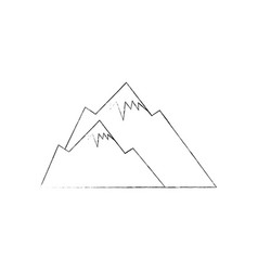 Cute snowy mountains vector
