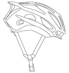 Cycle helmet vector