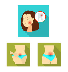 Damage and wound icon vector