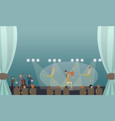 Dancing ballet performance in vector