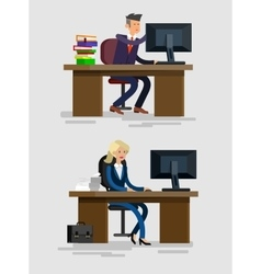 detailed character corporate business team vector image