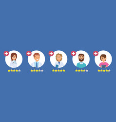 doctors rating five star rating concept search vector image