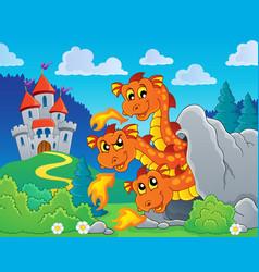 dragon topic image 8 vector image