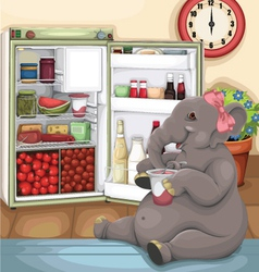 Elephant Glutton vector image